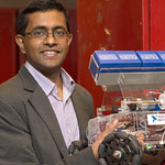 Sarath Kodagoda with his robot