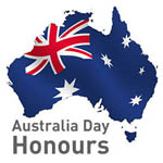 Australia Day Honours - Map of Australia overlaid with the Australian flag