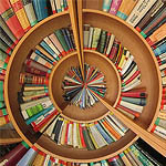 Spiral of books