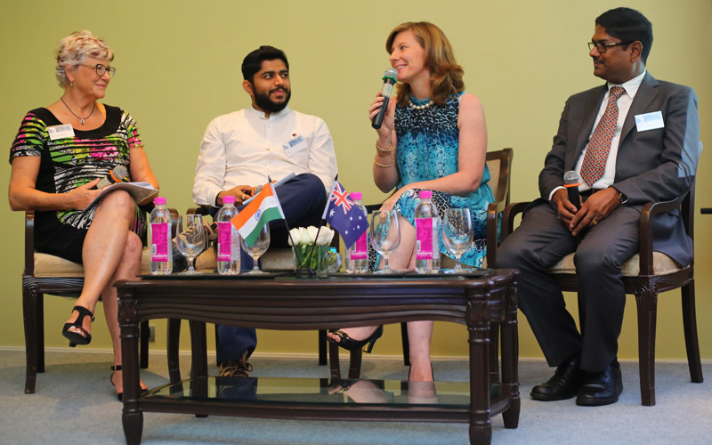 Photo of panel discussion from the Mumbai event