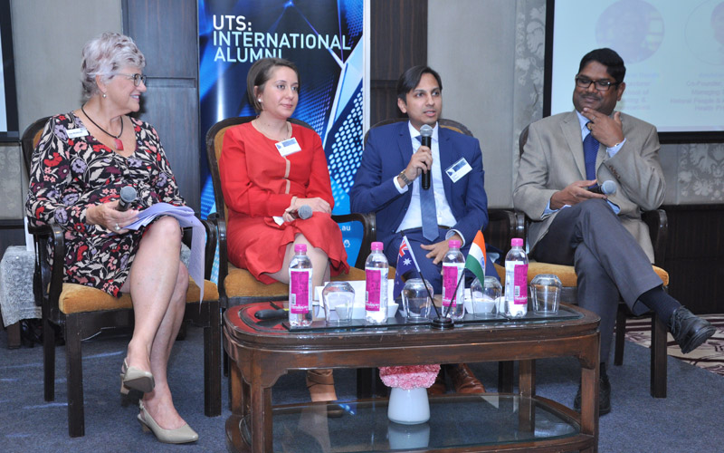 Photo of panel discussion from the New Delhi event